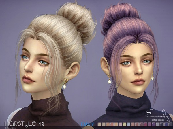 The Sims Resource: Emily n19 hair by S Club for Sims 4