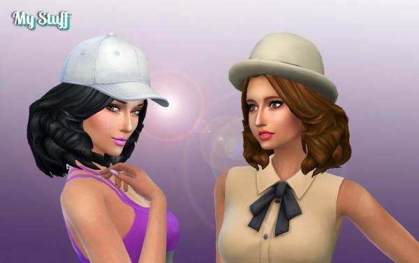Mystufforigin: Felicia hair retextured for Sims 4