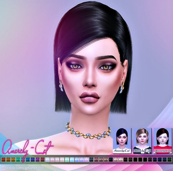 Anarchy Cat: Ade`s Eva hair retextured for Sims 4