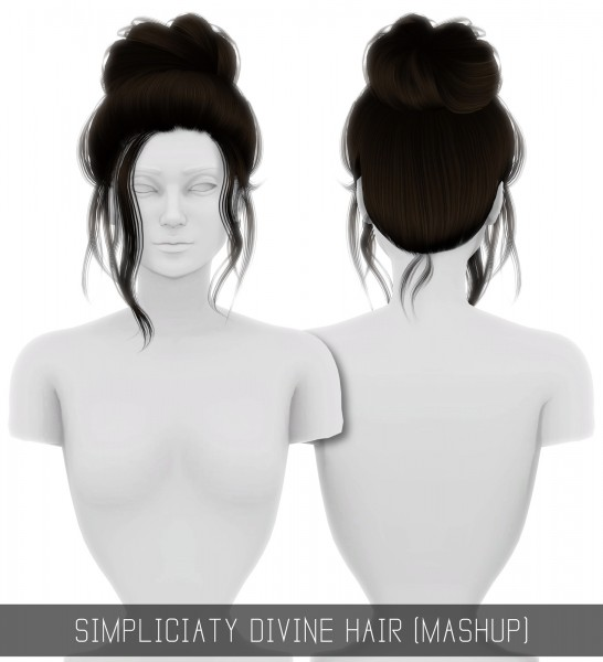 Sims 4 Hairs Simpliciaty Divine Hair Retextured