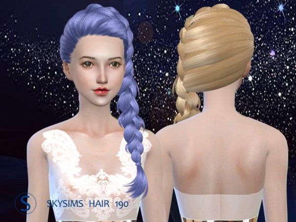 Butterflysims: Hair 190 by Skysims for Sims 4