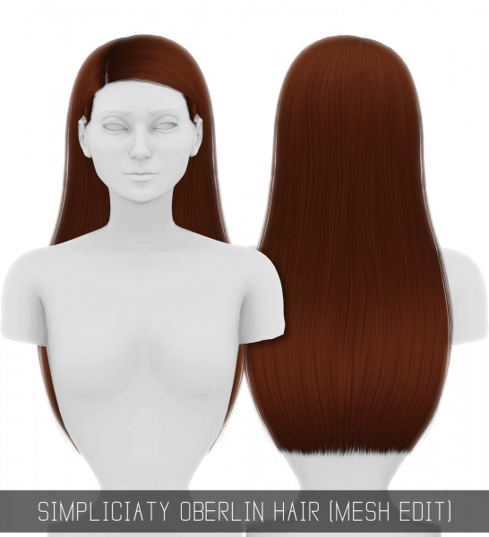 Simpliciaty: Oberlin hair retextured for Sims 4