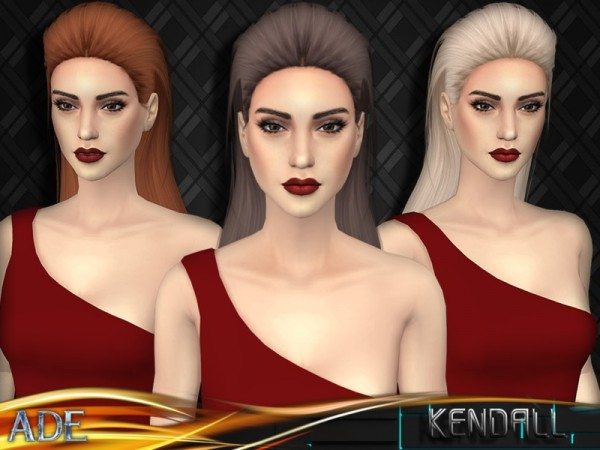 The Sims Resource: Kendall hair by Ade Darma for Sims 4