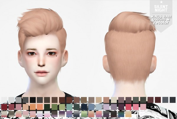 Silent Night: WINGS HAIR OS0508 M recolor for Sims 4