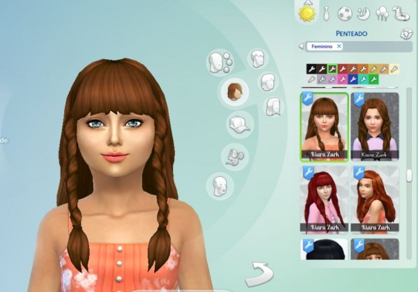 Mystufforigin: Renewal Braids hair retextured for Sims 4