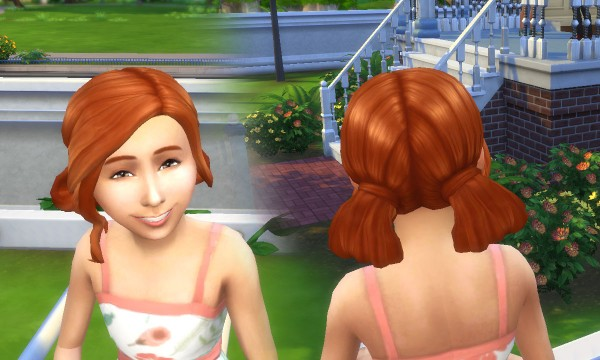 Mystufforigin: Triss Merigold Hairstyle for Girls for Sims 4