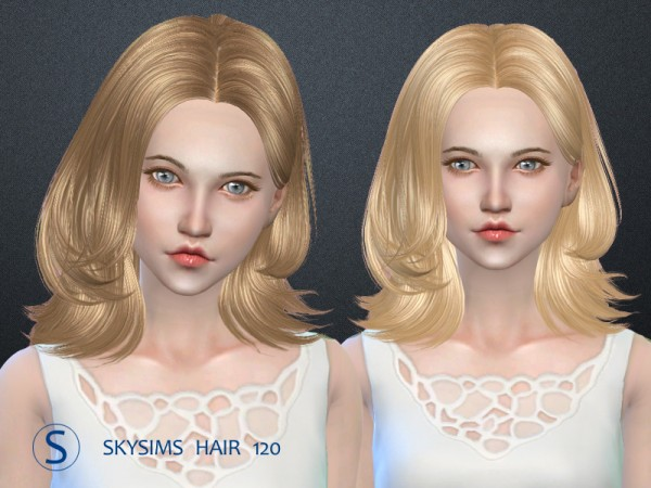 Butterflysims: Hair 120 by SkySims for Sims 4