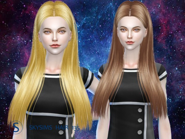 Butterflysims: Hair 125 by Skysims for Sims 4