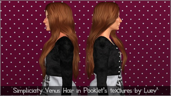 Mertiuza: Simpliciaty`s Venus hair retextured for Sims 4