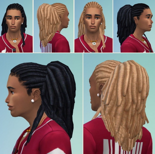 Birksches sims blog: Gents Fitness Dreads for Sims 4