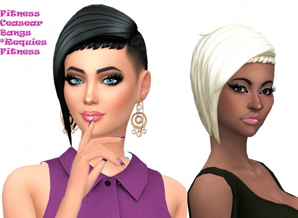 Sims Fun Stuff: Austin, Fitness Asymmetrical, Box Braids hair retextured for Sims 4