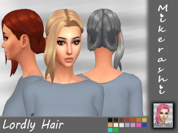 Mikerashi: Lordly Hair for Sims 4