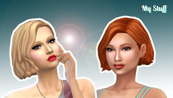 Mystufforigin: Amalia Hairstyle for Sims 4