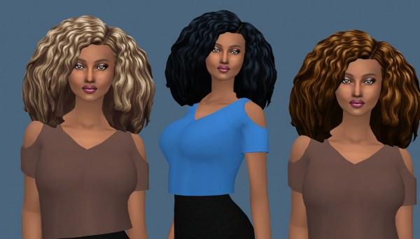 Sims Fun Stuff: Funny Twist hair retextured for Sims 4
