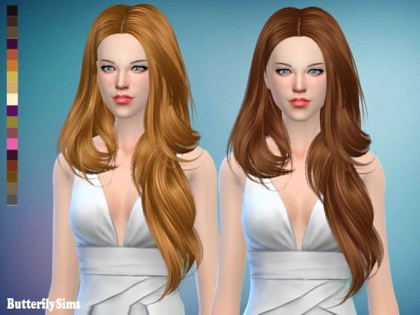 Butterflysims: Hair 175 for Sims 4