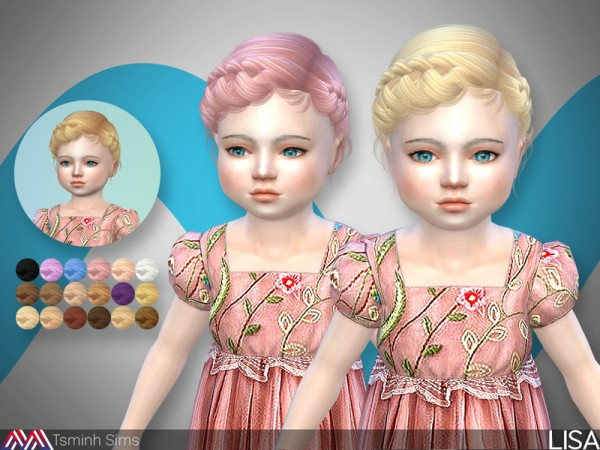The Sims Resource: Lisa  Hair 31 for toddlers by TsminhSims for Sims 4