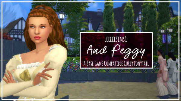 Simsworkshop: And Peggy hair retextured by leeleesims1 for Sims 4