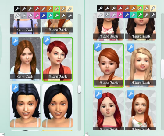 Mystufforigin: Side Long Twist hair converted for Sims 4