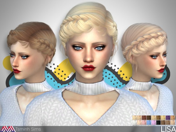 The Sims Resource: Lisa Hair 31 by TsminhSims for Sims 4