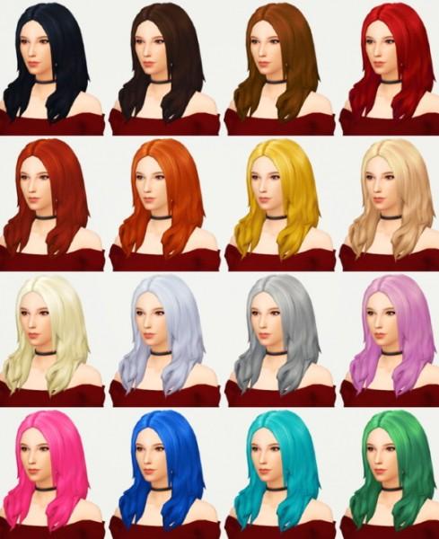 Kot Cat: Keira's hair retextured for Sims 4
