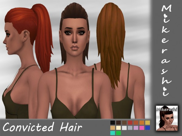 Mikerashi: Convicted Hair for Sims 4