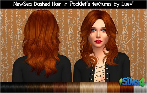 Mertiuza: Newsea`s Dashed hair retextured for Sims 4