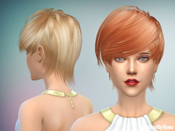 Butterflysims: F/M023 hair NO hat for Sims 4