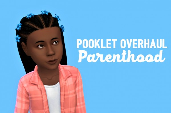 Swirl Goodies: Pooklet overhaul hair recolored for Sims 4