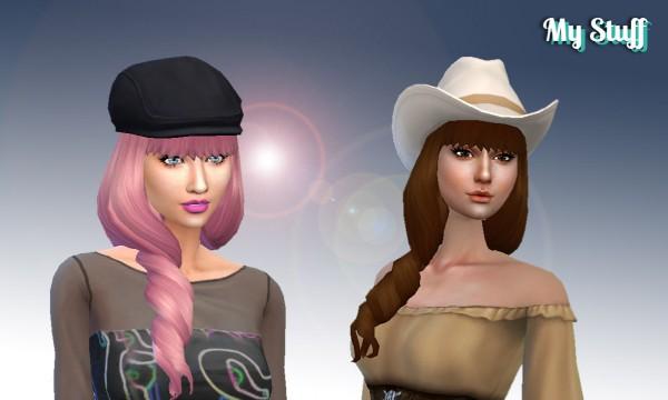 Mystufforigin: Giavanna Hairstyle for Sims 4