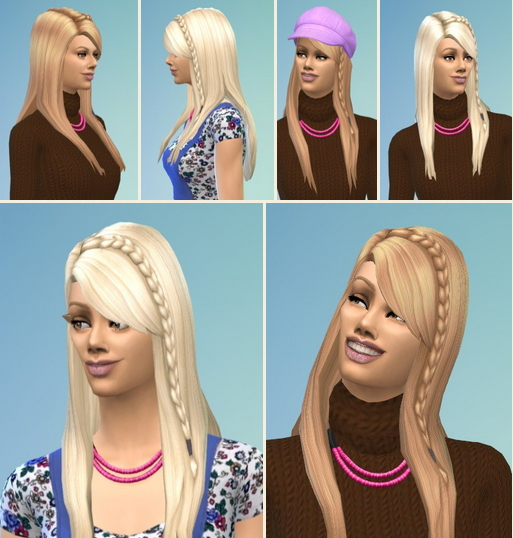 Birksches sims blog: Young Mother Hair for Sims 4