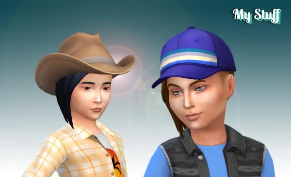 Mystufforigin: Assym hair converted for Sims 4