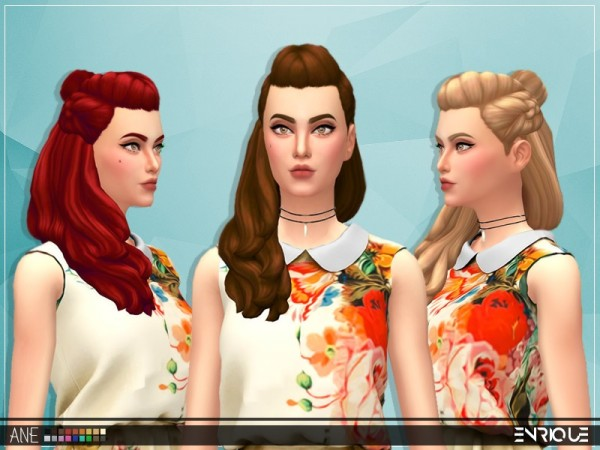 The Sims Resource: Enrique`s Ane Hair by Jruvv for Sims 4