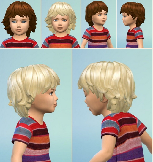Birksches sims blog: Toddler's Fuzzy Hair for Sims 4
