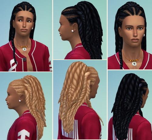 Birksches sims blog: Hugo Twist Hair for Sims 4