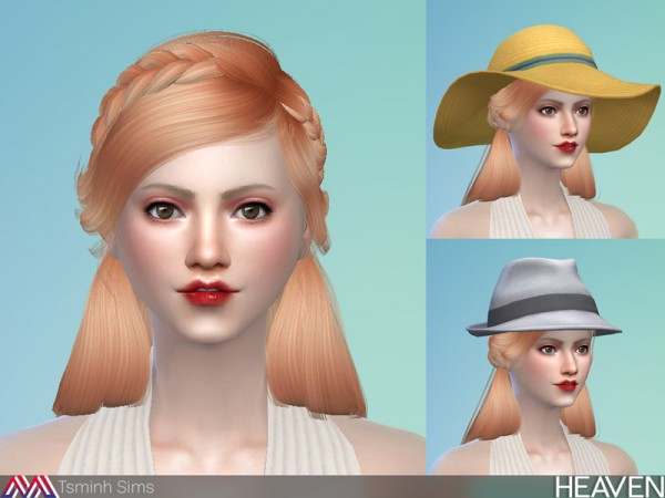 The Sims Resource: Heaven Hair 33 by Tsminhsims for Sims 4
