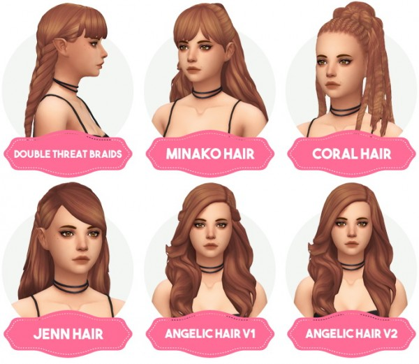 Aveira Sims 4: Clay Hair Recolors Updated for Sims 4