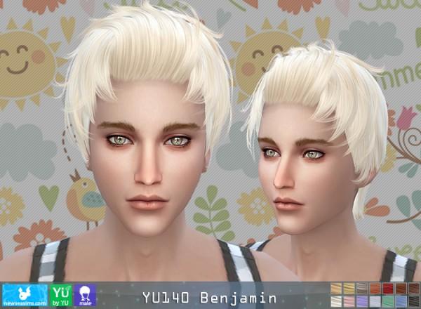 NewSea: YU 140 Benjamin hair for Sims 4