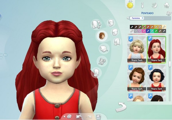 Mystufforigin: Dream Curls for Toddlers for Sims 4