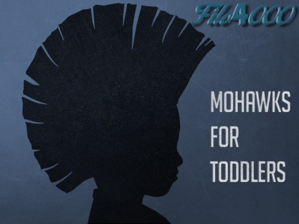 The Sims Resource: Toddler Hair 09: Mohawk retextured by filo4000 for Sims 4