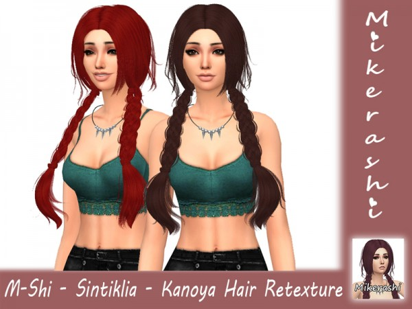 The Sims Resource: Sintiklia`s   Kanoya Hair Retextured by mikerashi for Sims 4