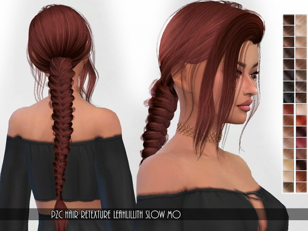 The Sims Resource: LeahLillith`s Slow Mo hair retextured by Pinkzombiecupcakes for Sims 4