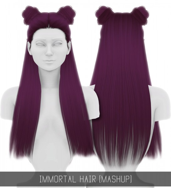 Simpliciaty: Immortal hair retextured for Sims 4