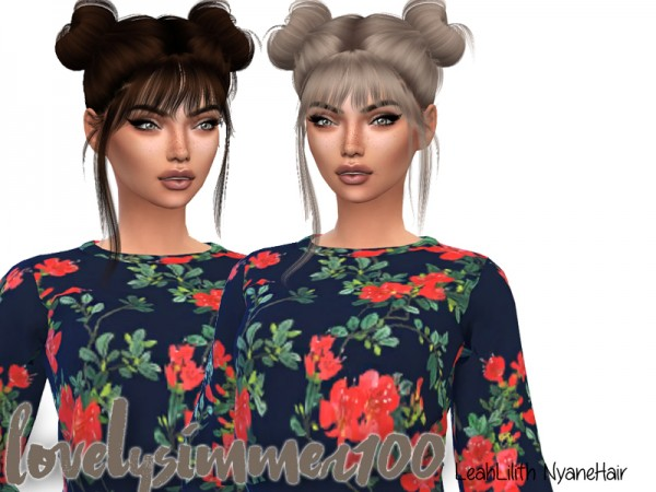 Simsworkshop: LeahLilith`s Nyane Hair recolored by xLovelysimmer100x for Sims 4