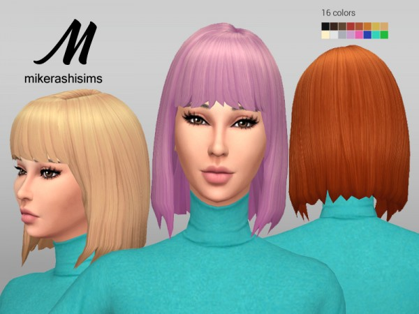 Mikerashi: Seductive Hair for Sims 4