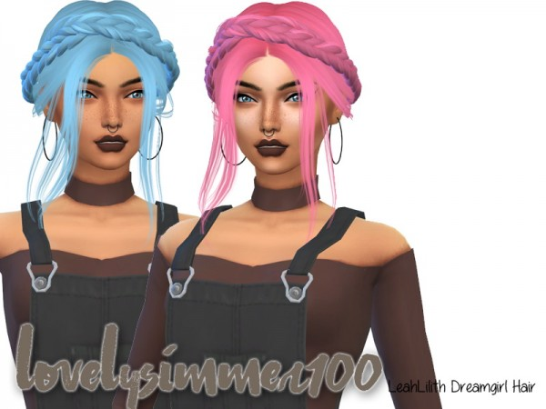 Simsworkshop: LeahLilith`s Dreamgirl hair recolored V2 by xLovelysimmer100x for Sims 4