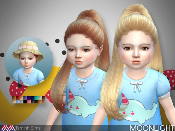 The Sims Resource: Moonlight 27 hair by TsminhSims for Sims 4