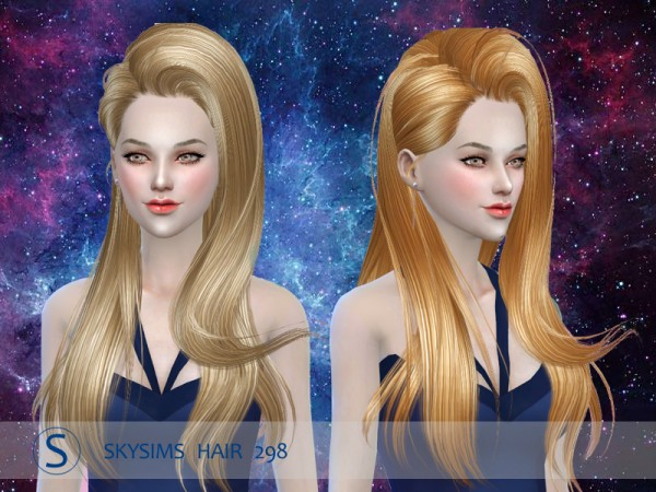 Butterflysims: 298 hair by Skysims for Sims 4