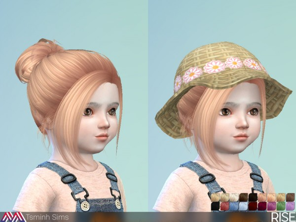 The Sims Resource: Rise Hair 34   toddler by TsminhSims for Sims 4
