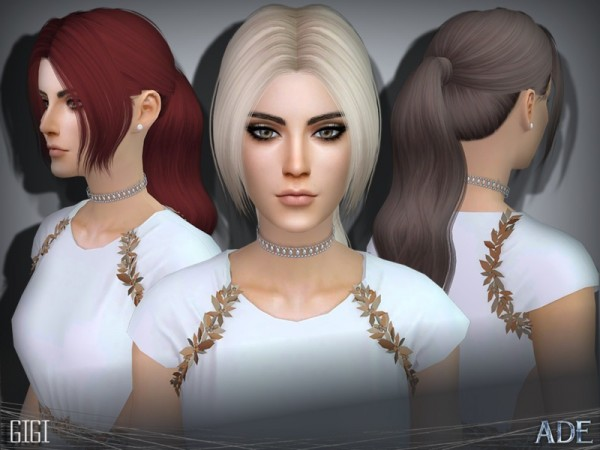 The Sims Resource: Ade   Gigi hair for Sims 4