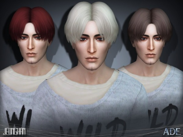 The Sims Resource: Jeonghan hair by Ade Darma for Sims 4